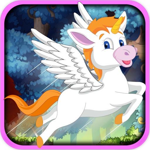Rainbow Unicorn Jump Race - Jungle Horse Bounce Rush Free