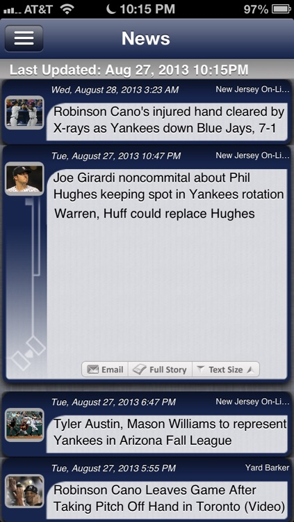 New York Y Baseball Live screenshot-3