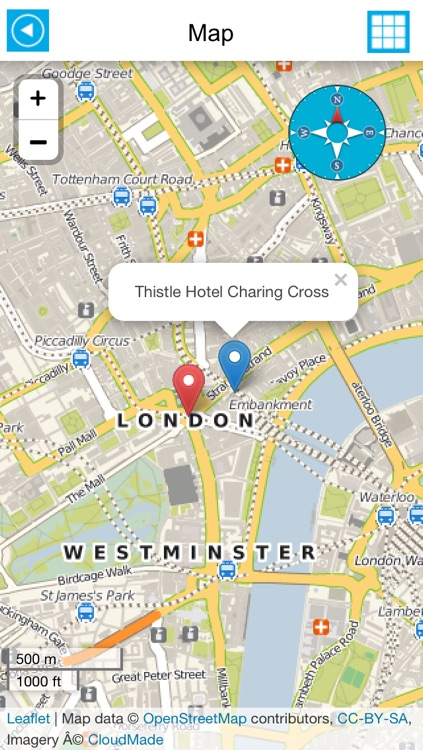 London offline map, guide, hotels.