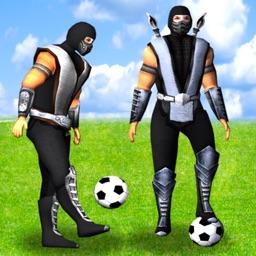 A Ninja Soccer Ball Juggler: Win the FootBall Cup With Big 3D Ninjas Game