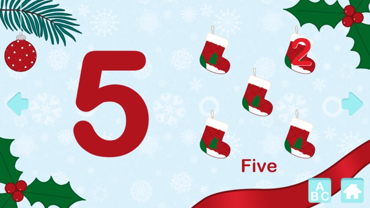 123 Numbers: Christmas Games For Kids - Learn to Count