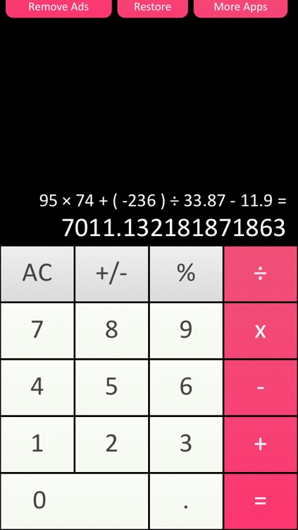 Calculator √ - Free Simple and Scientific Calculation for iPad iPhone and iPod Touch screenshot-1