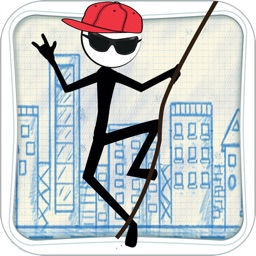 Stick-man Swing Adventure: Tight Rope And Fly Pro