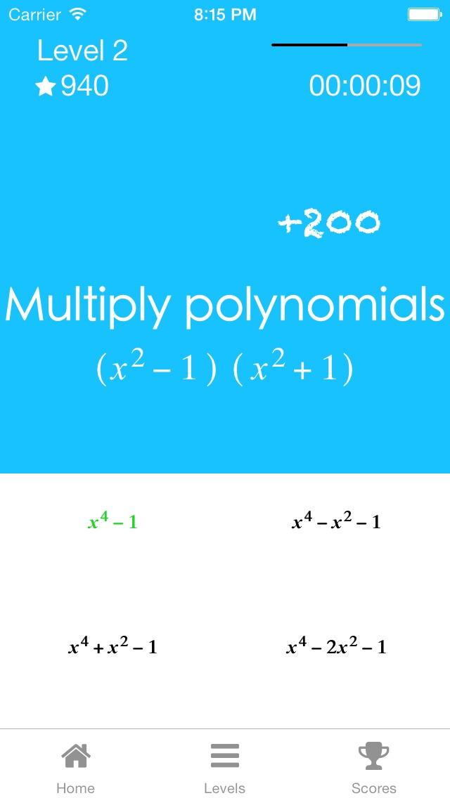 Algebra Quiz Game - Learn to simplify, factor, & solve math ...