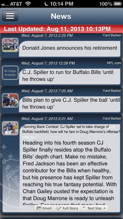 Buffalo Football Live screenshot-1