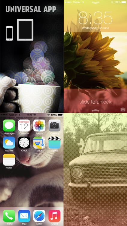 Gradify - Custom Wallpapers for iOS7 by Pimp your Photos (+Valentine's Day Wallpaper) screenshot-4