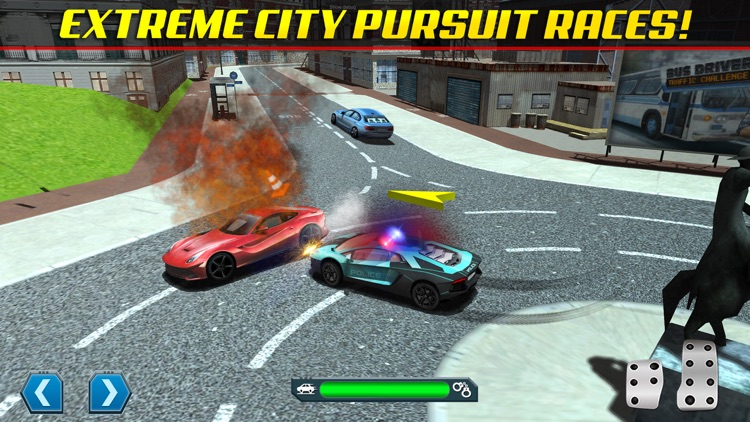 Police Chase Traffic Race Real Crime Fighting Road Racing Game screenshot-3