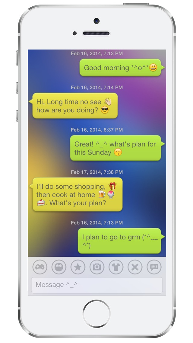 Bubble Emoji 3 – chat with emoticon smiley face in emoji keyboard :-)