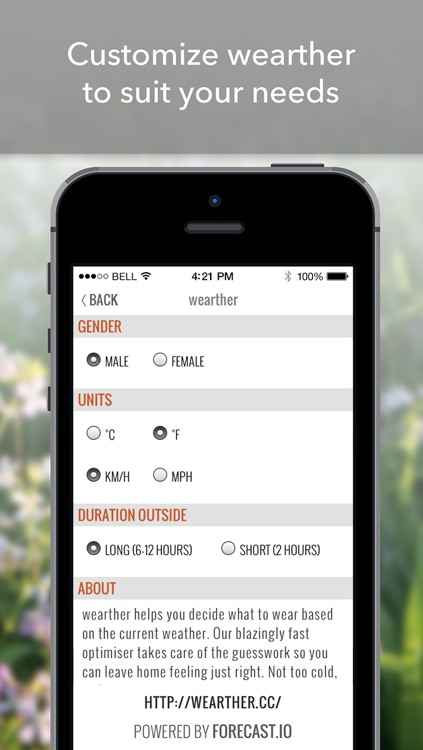 wearther - The weather forecasting app that styles you screenshot-3