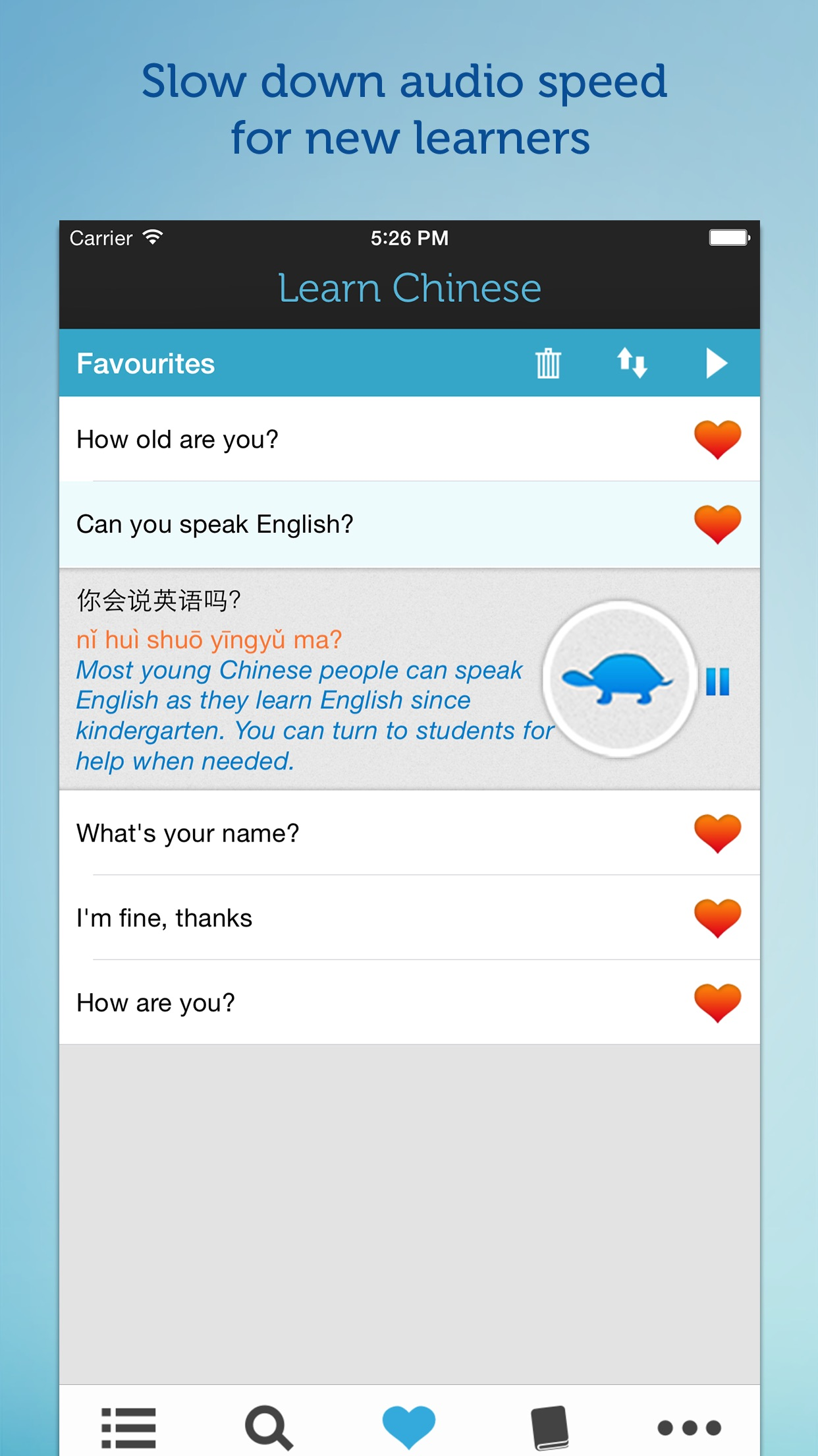Screenshot do app Learn Chinese - Mandarin Phrasebook for Travel in China