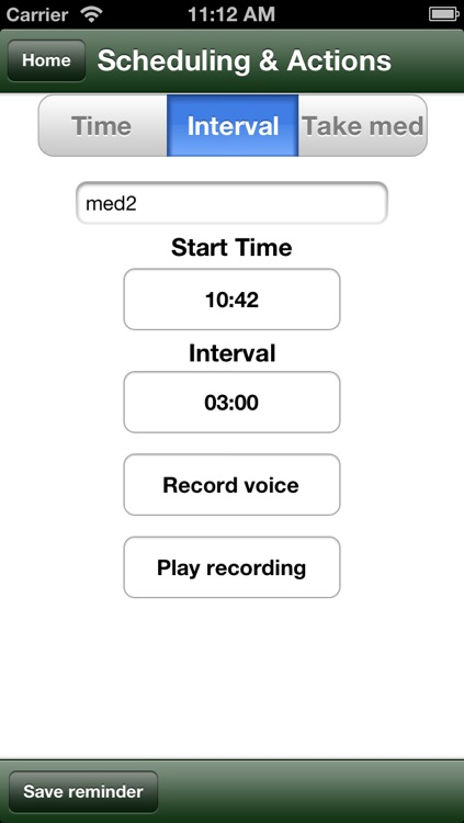 Voice med reminder lite screenshot-2