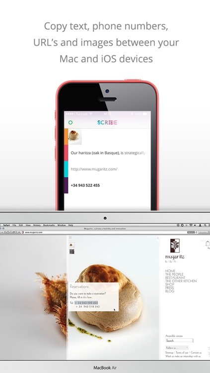 Scribe - Copy anything from your Mac to your iPhone