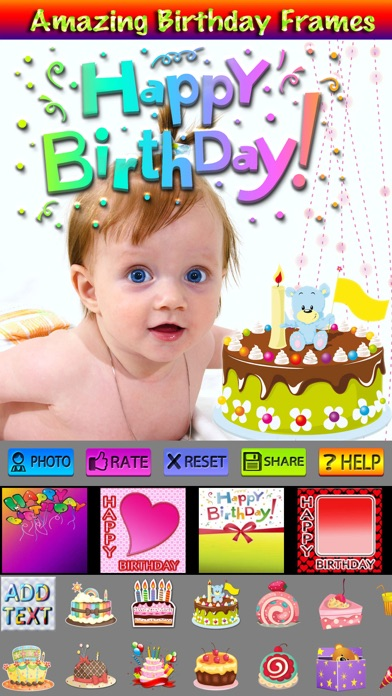 birthday stickers and photo frames app price drops