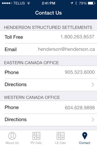 Henderson Present Value Calculator screenshot 2