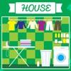 子供のためのABCの家!名前、フレーズ、キッチン、リビングルーム、ベッドルーム、バスルームのような部屋の発音:最初の英語の単語のゲーム。 話す、学ぶ、聞く。 - iPhoneアプリ