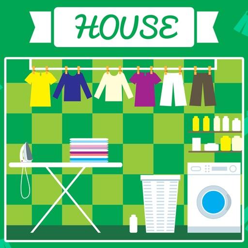 ABC дом для детей! Игры из ваших первых слов на английском языке: Имена, фразы и произношение номерах как кухня, гостиная, спальня, ванная