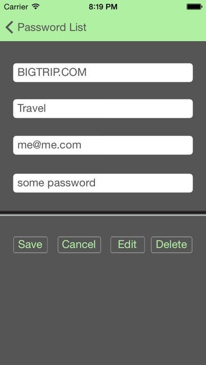 My Sanity - Password Manager screenshot-3