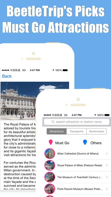 Milan travel guide with offline map and metro transit by BeetleTrip screenshot-4