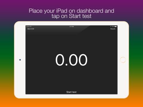 Screenshot #4 pour SpeedUp - Acceleration test 0-100 kmh 0-60 mph