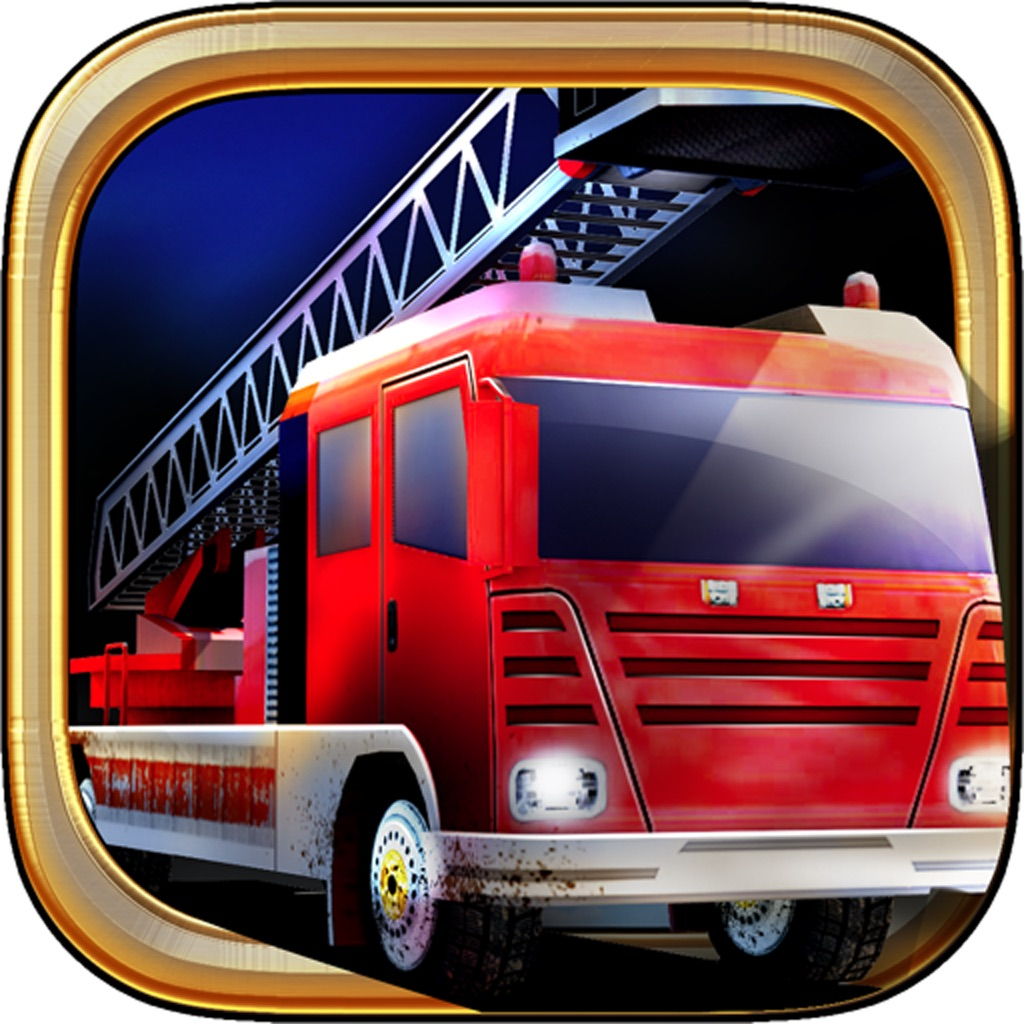 American fire truck parking 3D hack