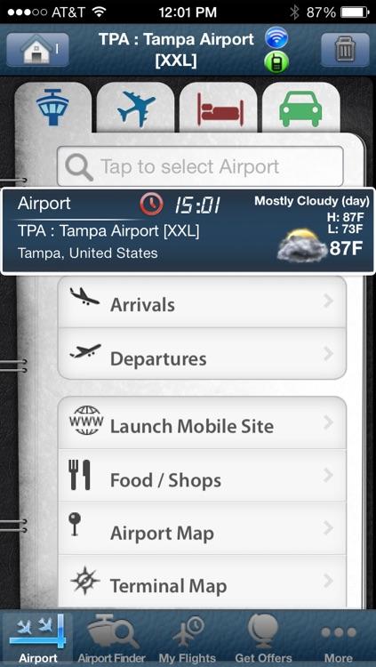 Tampa Airport + Flight Tracker