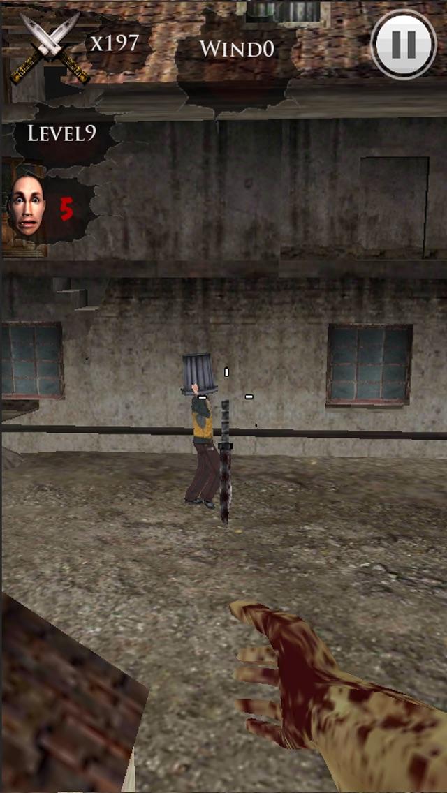 ナイフ投げ-私はゾンビだ 3Dのスクリーンショット4
