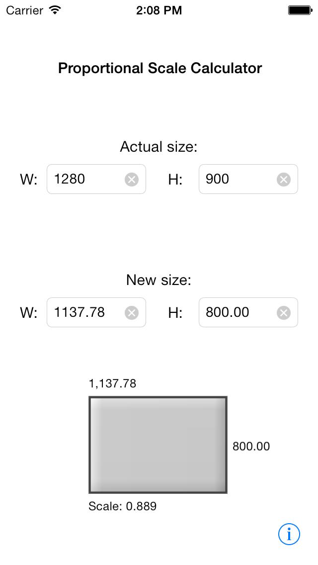 Viewgrader: Proportional Scale Calculator screenshot one