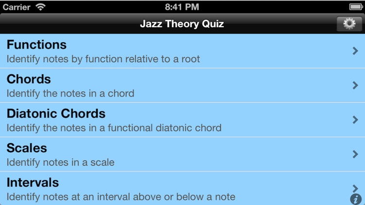 Jazz Theory Quiz