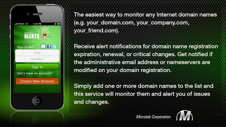 Domain Alerts screenshot-0