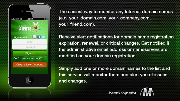 Domain Alerts