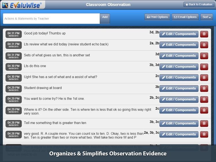 EvaluWise – Teacher Evaluation screenshot-3