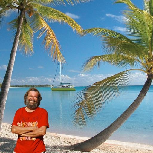 Antoine in the Tuamotu islands