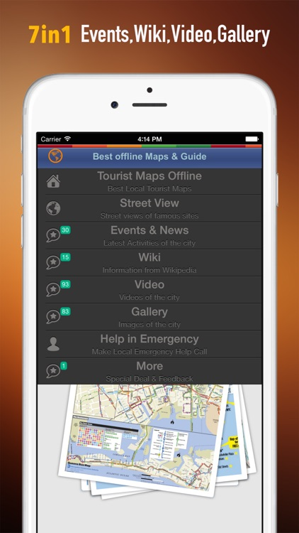 New York Tour: Best Offline Maps with StreetView and Emergency Help Info screenshot-1