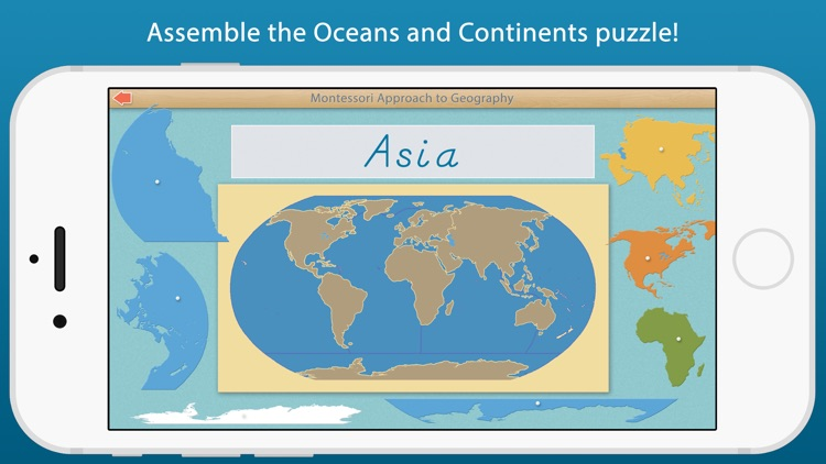 World Continents and Oceans - A Montessori Approach To Geography screenshot-4