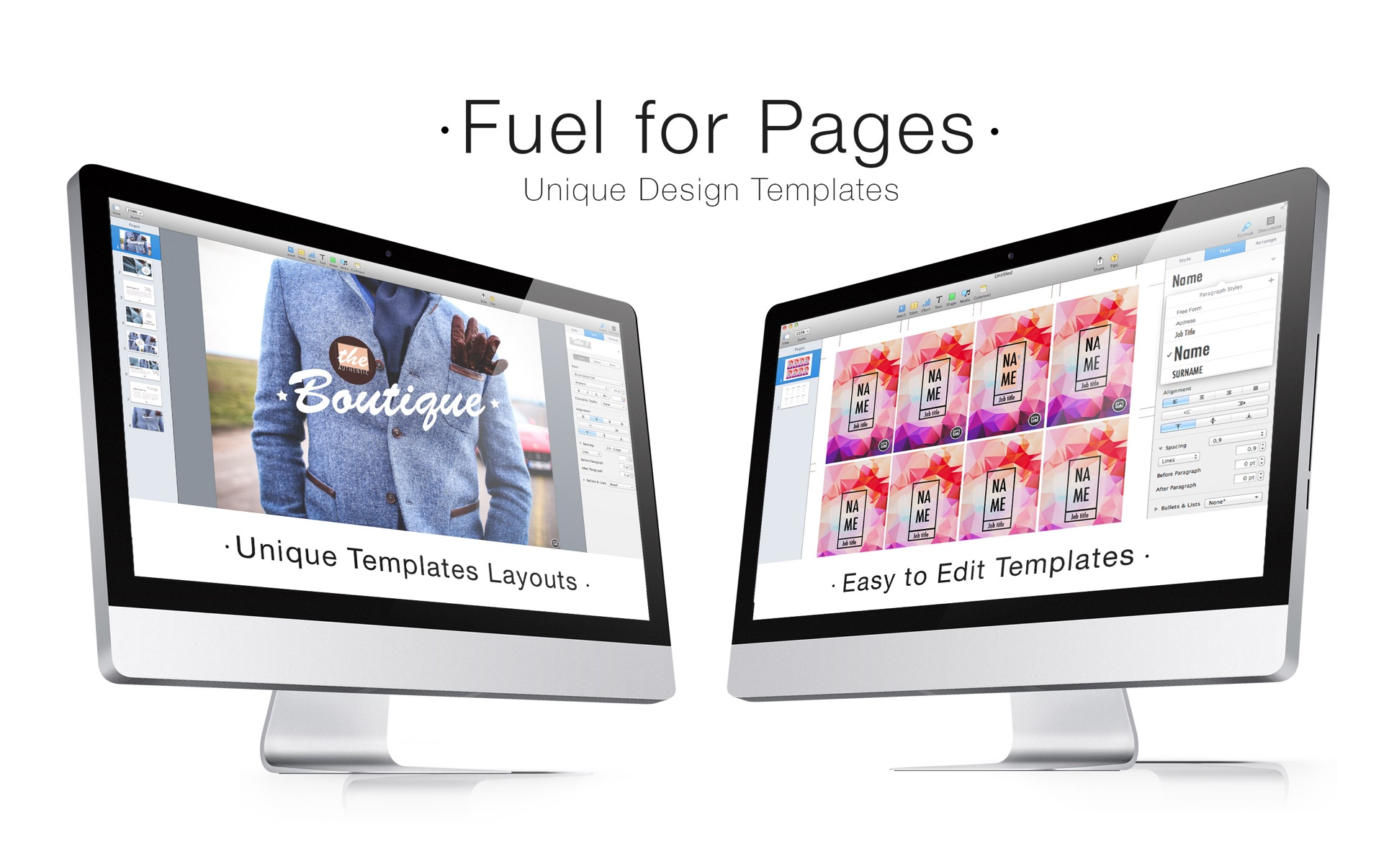 Fuel for Pages Mac 破解版 精美的Pages模板合集-麦氪搜(iMacso.com)