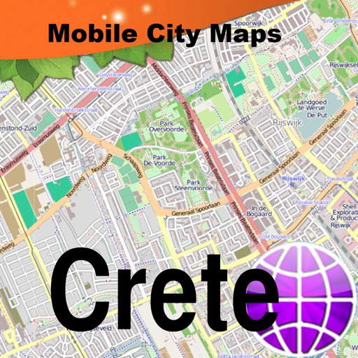 Crete Street Map