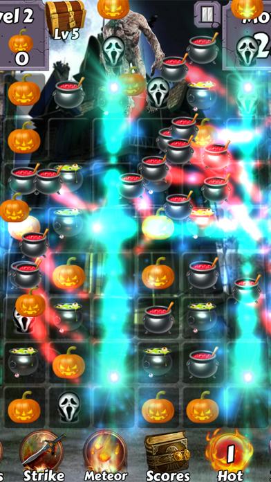 Monster Mash Mania Halloween - Wear pumpkin costumes and collect haunted wallpapers free Moves and Lives hack