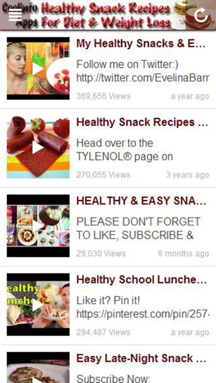 Healthy Snack Recipes For Diet & Weight Loss! screenshot-2