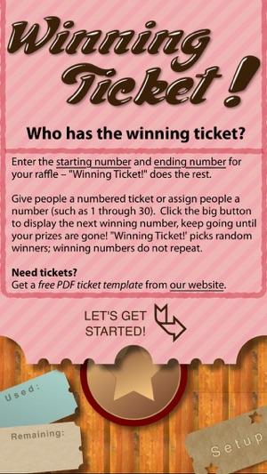 Winning Ticket on the App Store