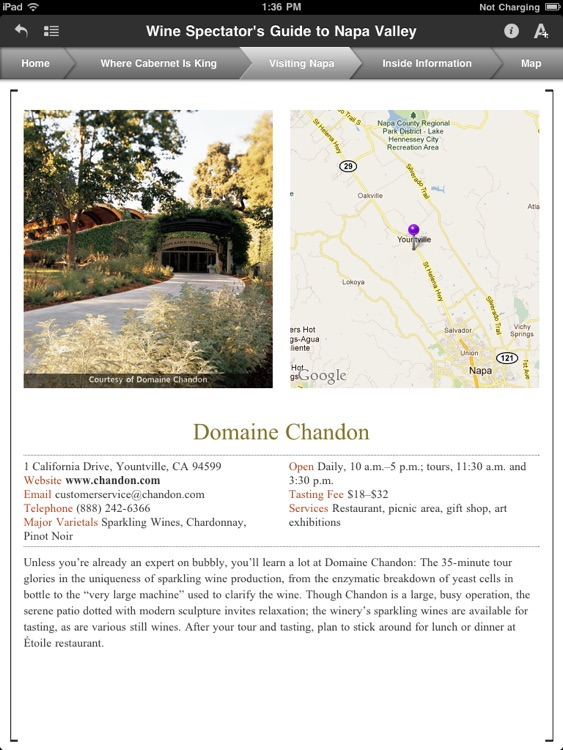 Wine Spectator's Guide to Napa Valley screenshot-3
