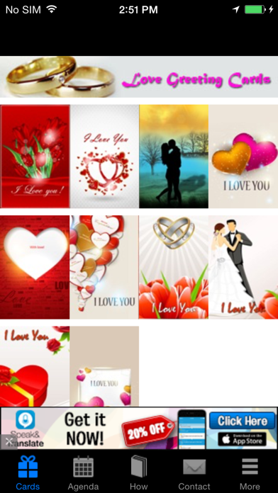 Romantic Love Greeting Cards screenshot one