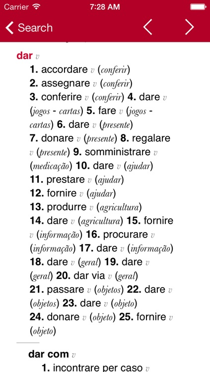 Italian-Portuguese Dictionary from Accio