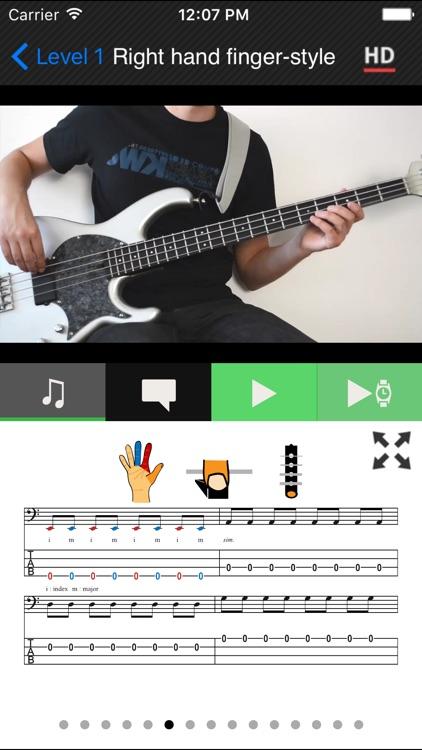 Beginner Bass method HD LITE screenshot-3