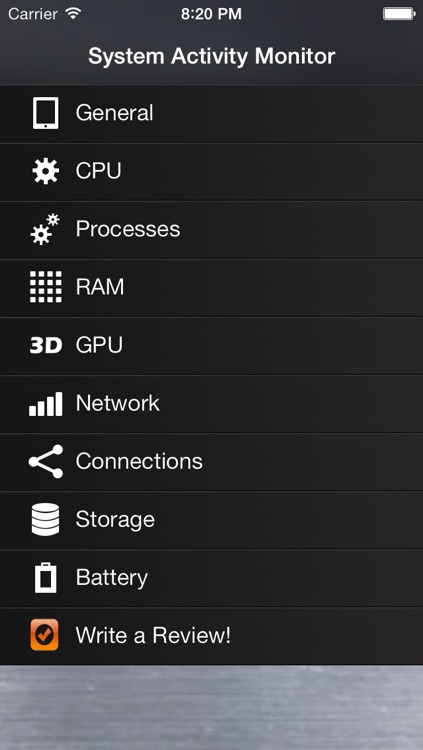 SYSMON - Activity Monitor, Network Info, Battery Charge Status & Memory Manager