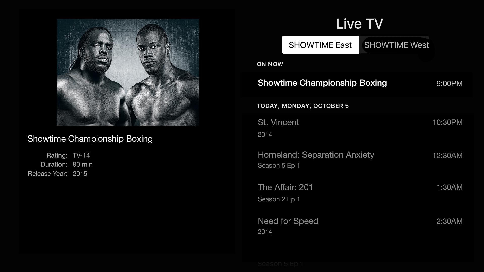Showtime Anytime screenshot 13