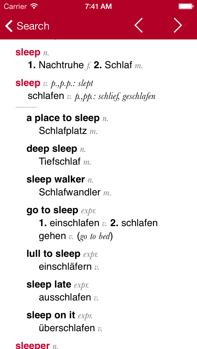 German-English Dictionary from Accioのおすすめ画像2