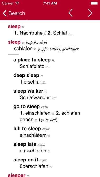 German-English Dictionary from Accio