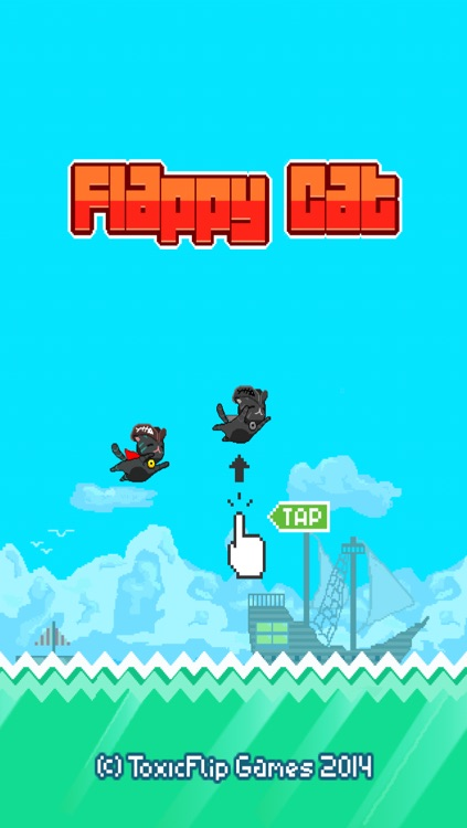 Flappy Cat: Pirate