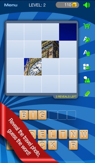 Guess It! Pic Travel – Free Trivia Word Scramble Quiz Game. Have fun guessing what's the landmark, attractions or icon photo but don't give up, solve words with family and friends help! Screenshot on iOS