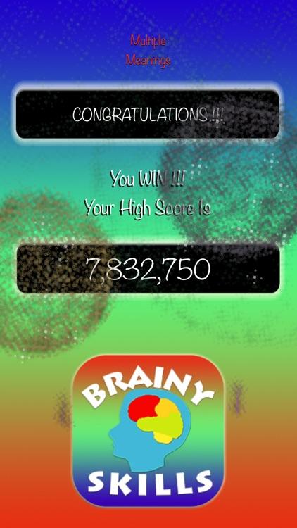 Brainy Skills Multiple Meanings screenshot-3